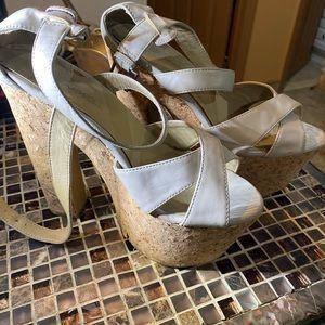 Beige platform heels!